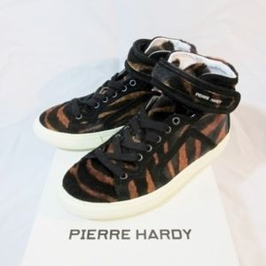 NEW Womens PIERRE HARDY HAIRY CALF TIGER Sneaker
